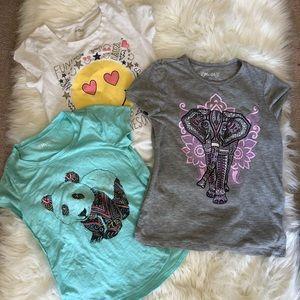 Set of three girls t shirts
